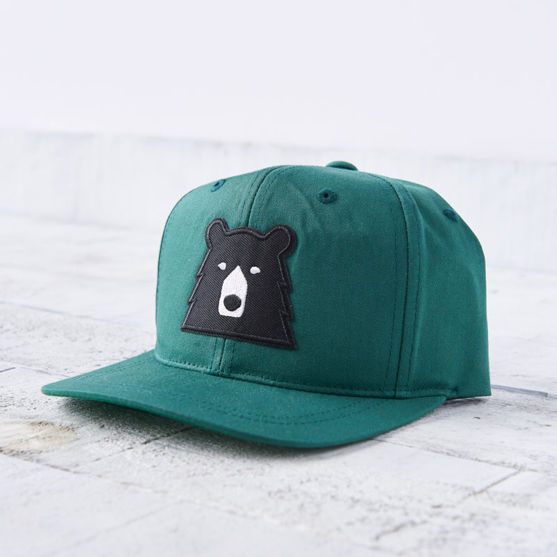 NSTP Youth Snapback - Spruce with Black Bear