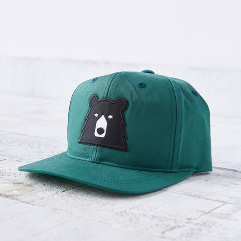 NSTP Kids Snapback - Spruce with Black Bear