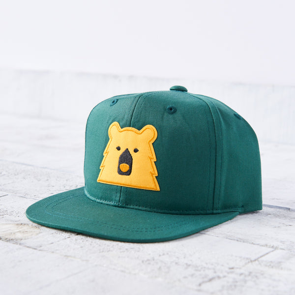 NSTP Kids Snapback - Spruce with Golden Yellow Bear