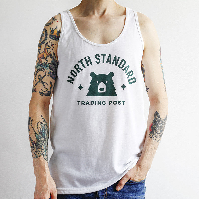 NSTP Varsity Tank - White with Forest