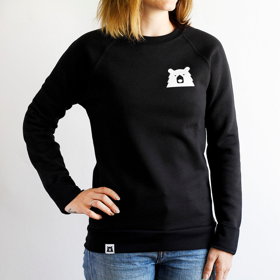 NSTP Mascot Crew Sweatshirt - Black with White