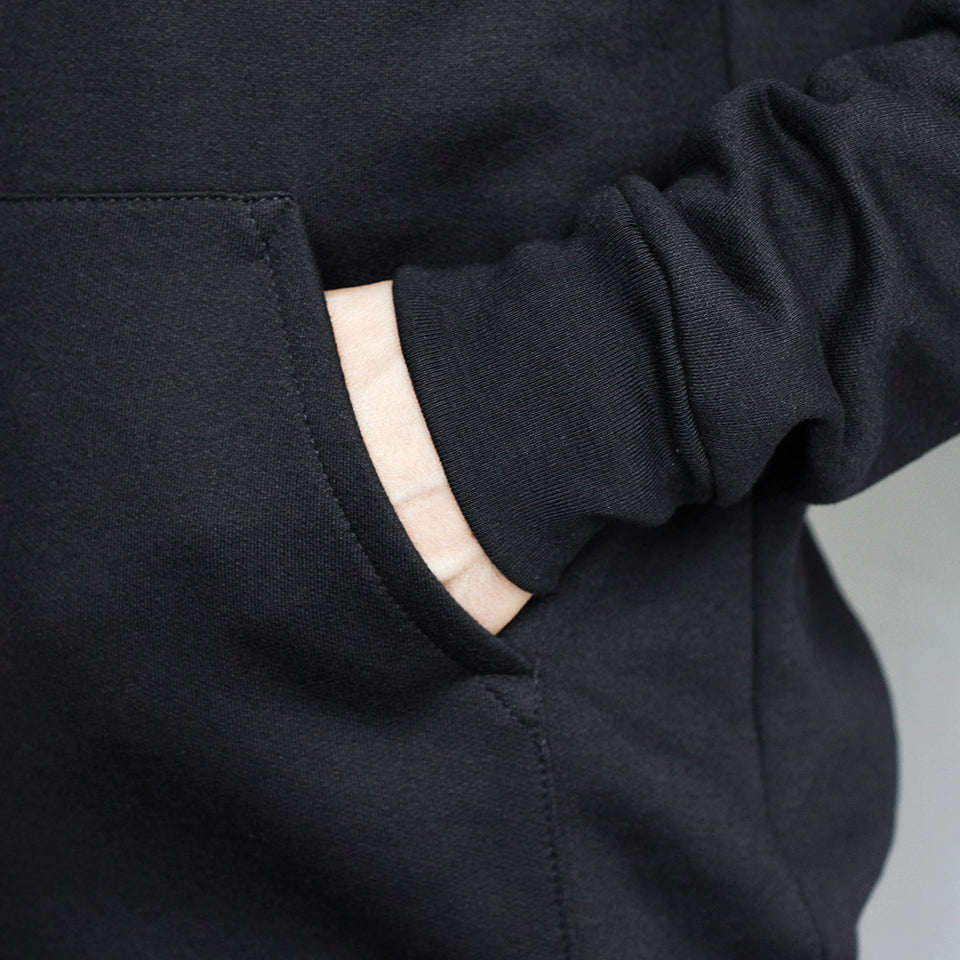 NSTP Shield Pop Over Hoodie - Black with Black