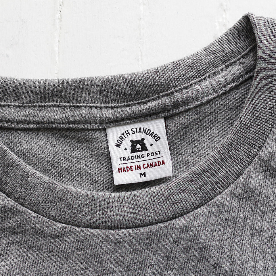 NSTP BASICS Perfect Crew Tee - Grey Marl