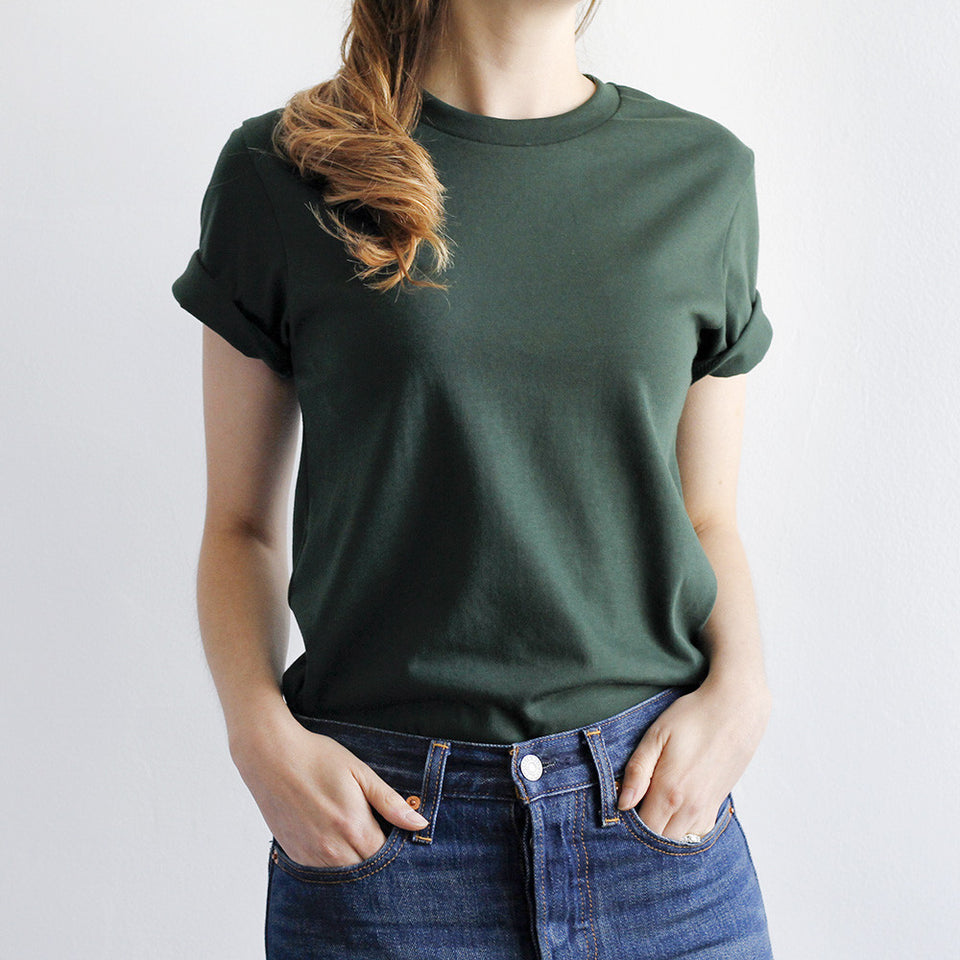 NSTP BASICS Perfect Crew Tee - Forest