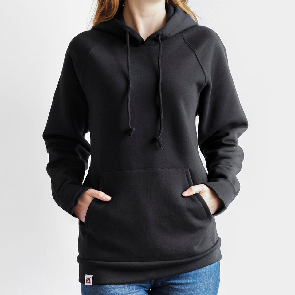 NSTP BASICS Classic Pop Over Hoodie - Black