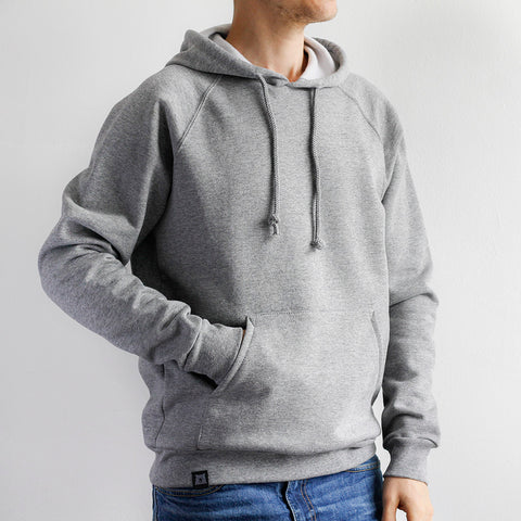 NSTP BASICS Classic Pop Over Hoodie - Grey Marl