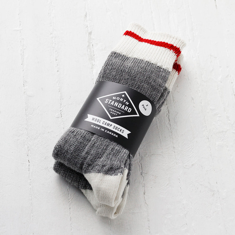 NSTP Camp Socks - Wool - Red - 2 pack