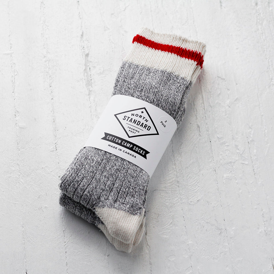 NSTP Camp Socks - Cotton - Red - 2 pack