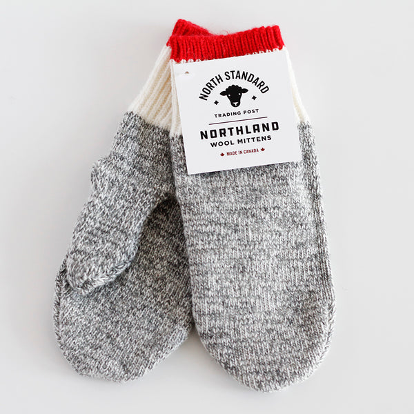 NSTP Northland Mittens - Grey/Red
