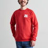 NSTP Mascot Crew Sweatshirt - Red with White