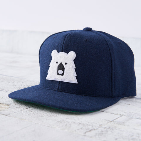 NSTP Melton Snapback - Navy with Polar Chenille Bear