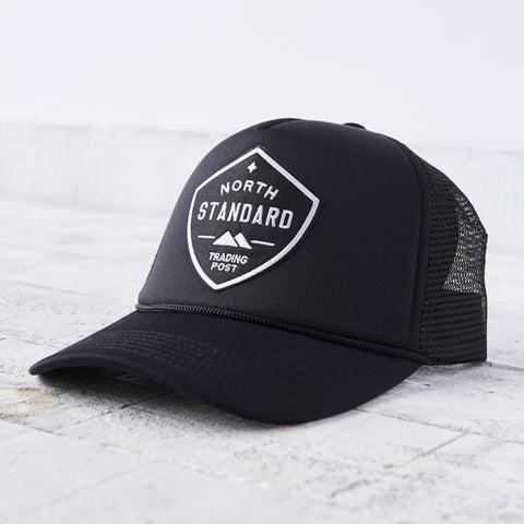 NSTP Mesh Foam Hat - Black with Black/White Shield