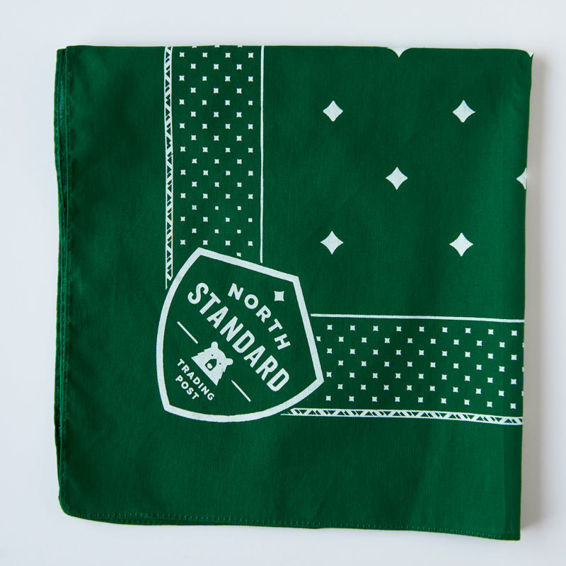 "NSTP Bandana 22"" - Kelly Green with White"