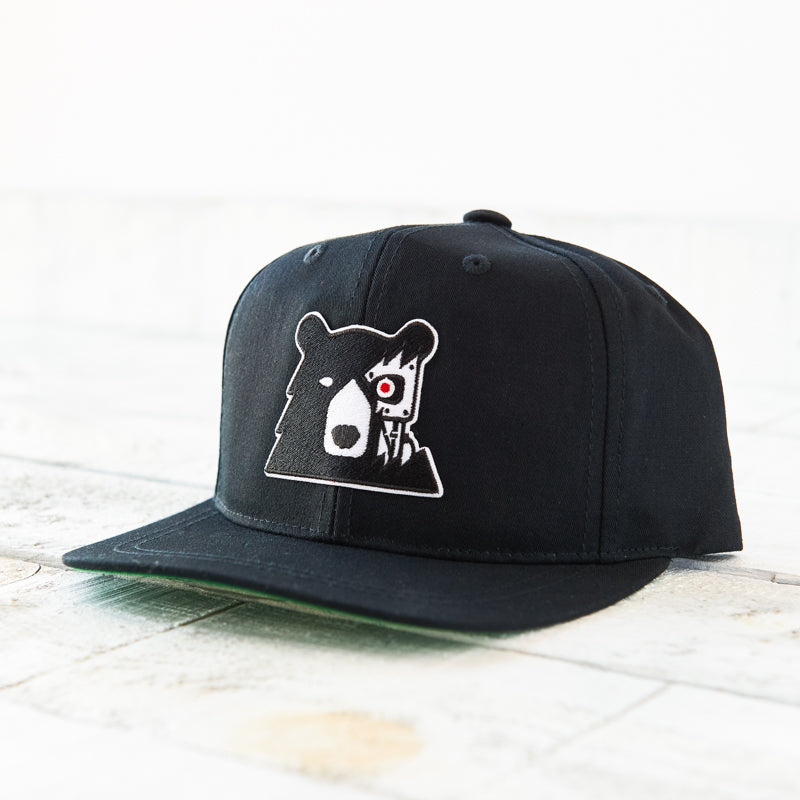 NSTP Youth Snapback - Black with Cyber Bear