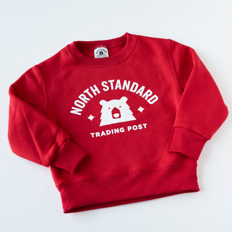 NSTP Kids Primary Crew Sweat - Red with White