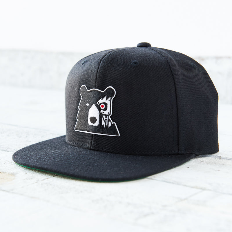 NSTP Snapback - Black with Cyber Bear