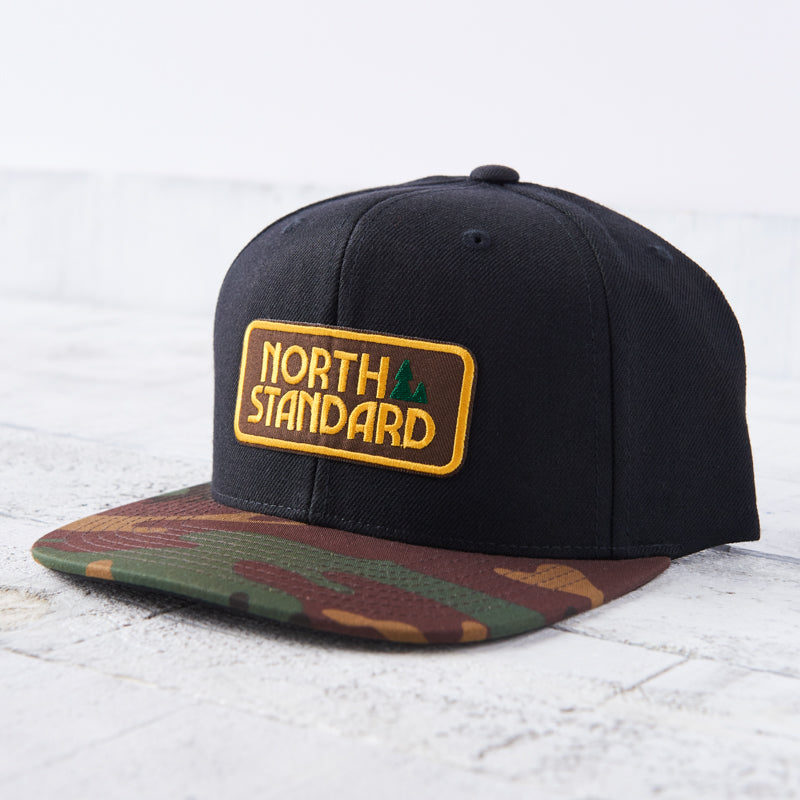 NSTP Snapback - Black/Camo with Brown/Gold Woodlands