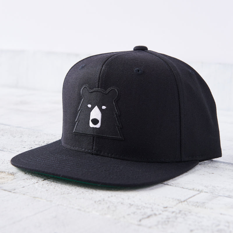 NSTP Snapback - Black with Black Bear
