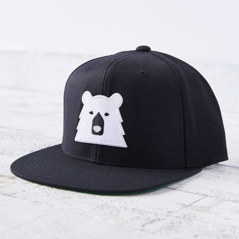 NSTP Snapback - Black with Polar Bear