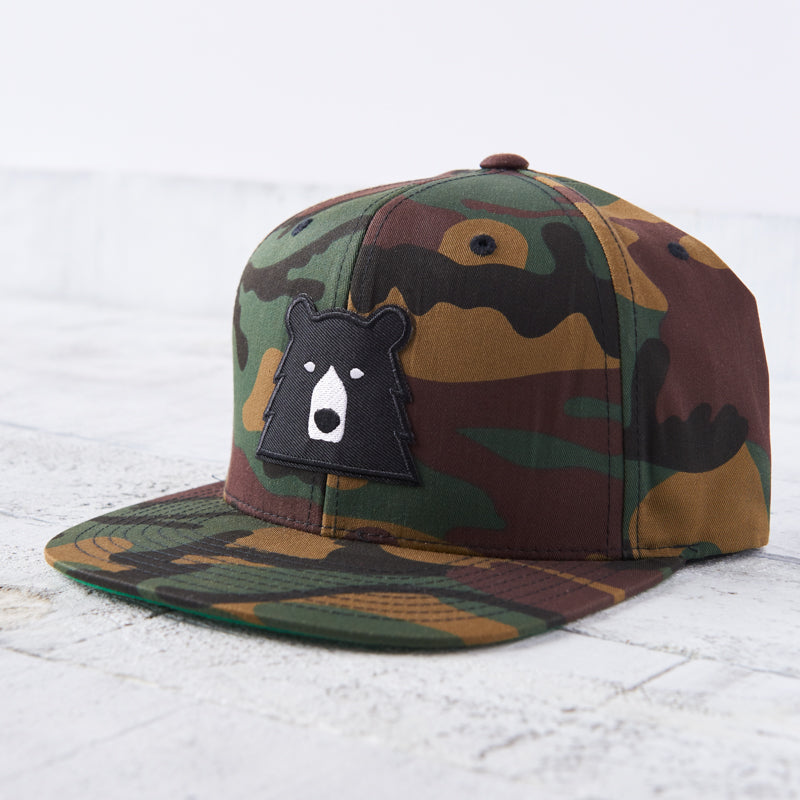 NSTP Snapback - Camo with Black Bear