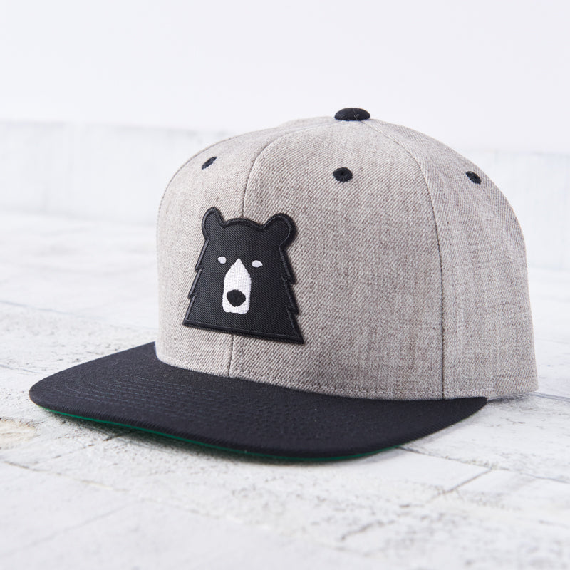 NSTP Snapback - Heather/Black with Black Bear
