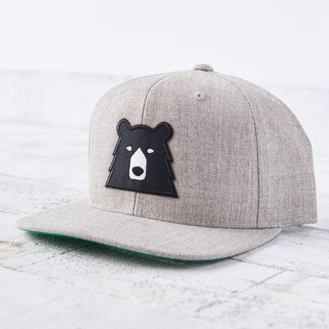 NSTP Snapback - Heather Grey with Black Bear