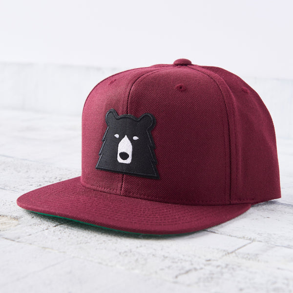 NSTP Snapback - Maroon with Black Bear