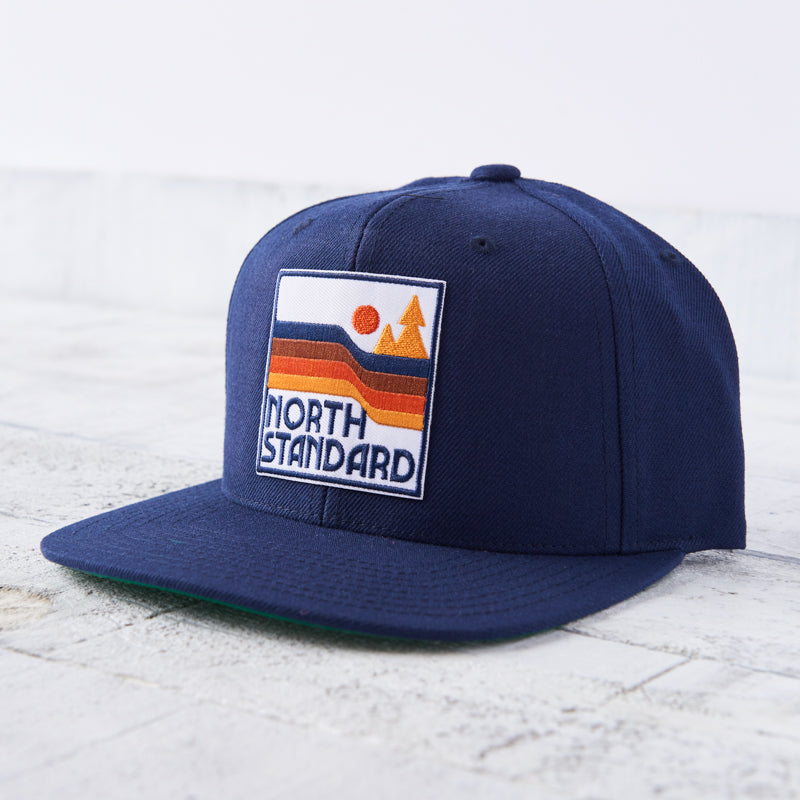 NSTP Snapback - Navy with Waves