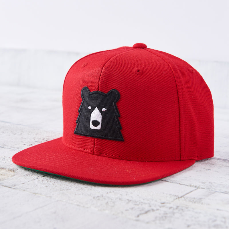 NSTP Snapback - Red with Black Bear