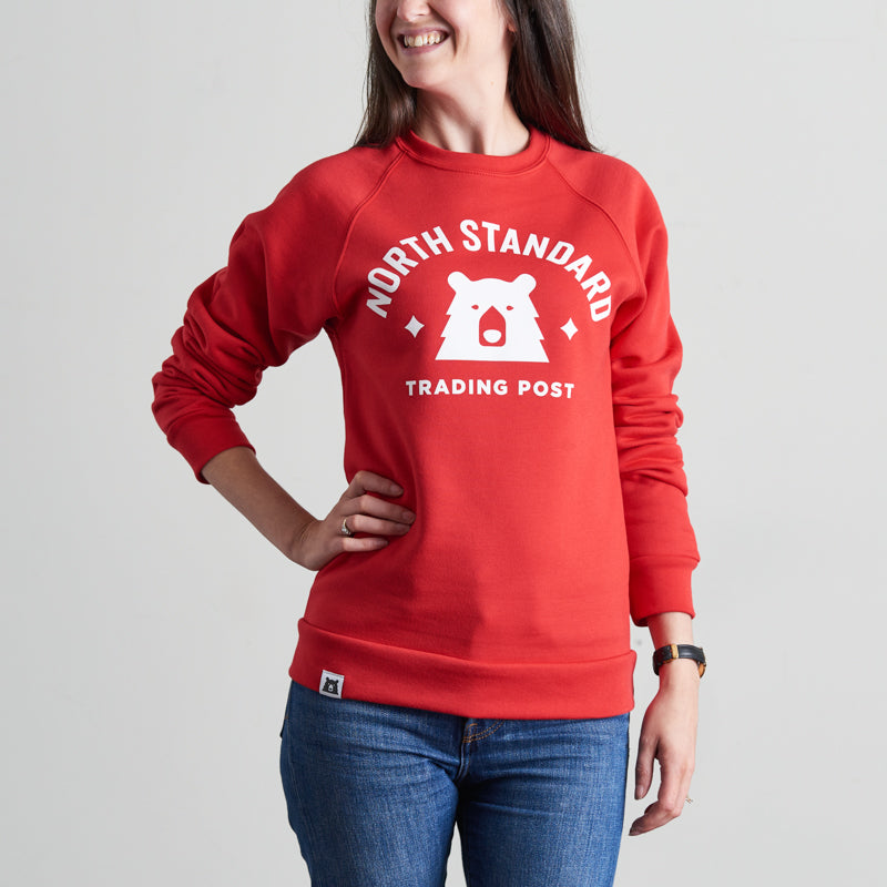 NSTP Varsity Crew Sweatshirt - Red with White