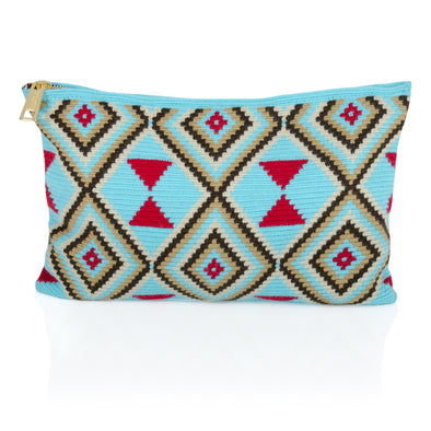 Wayuu Clutch - Kululu - Blue