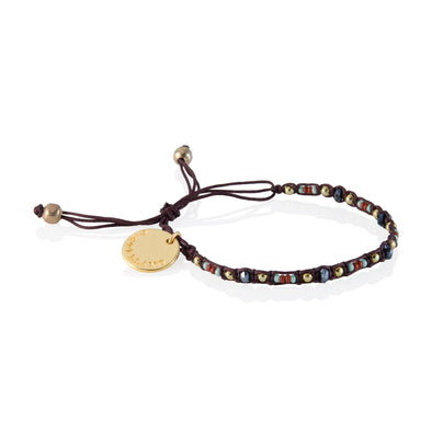 Smile - Friendship Bracelet - Brown/Black