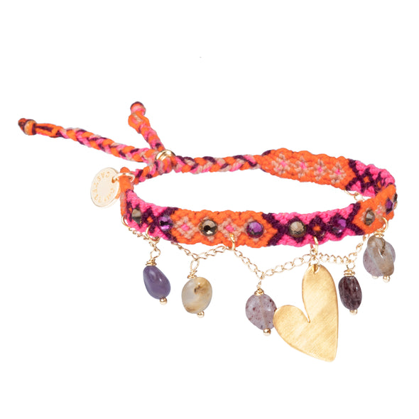 Free spirit bracelet with Quartz - Heart