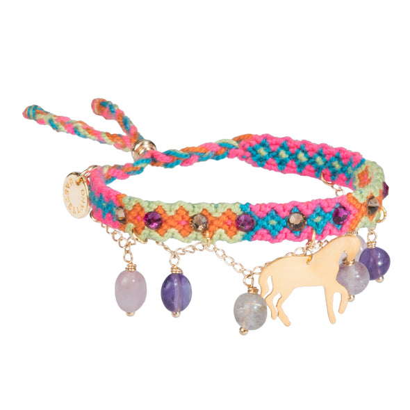 Free spirit bracelet with Quartz - Horse