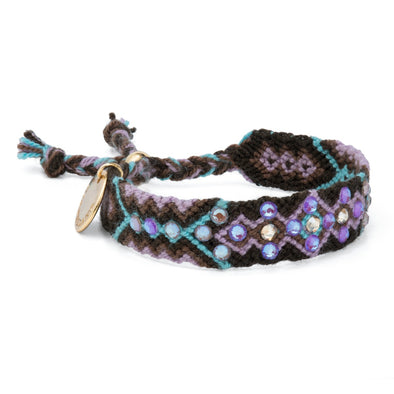 Sustainable - Wayuu Friendship Bracelet - Brown-Violet