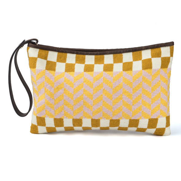 Wayuu Clutch - Kululu Beige-Yellow