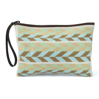 Wayuu Clutch - Kululu Brow-Blue