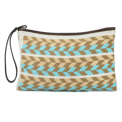 Wayuu Clutch - Kululu Yellow-Blue