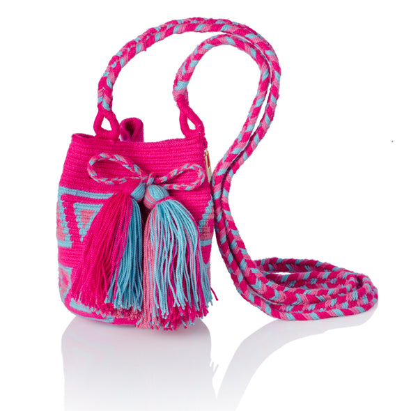 Katsüinwaa Mini Wayuu Crossbody Bag - Pink