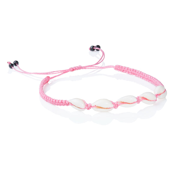 Seashells anklet - Rose