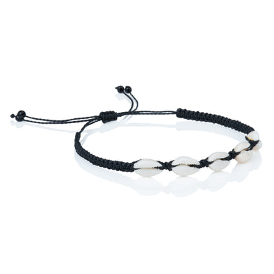Seashells anklet - Black