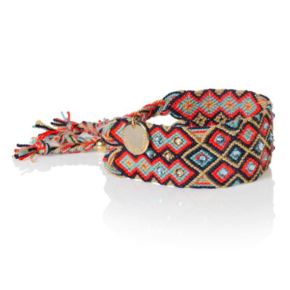 Girl Power Bracelet - Red Blue