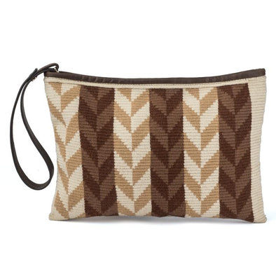Wayuu Clutch - Kululu Brown-Beige