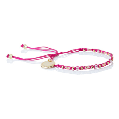 Smile - Friendship Bracelet - Pink