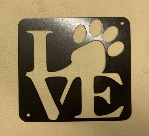 LOVE Paw Sign extra Small