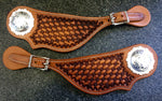 Tear Drop Spur Straps made by BuckarooGear made to Order