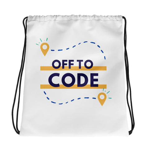 Off to CODE! Drawstring bag