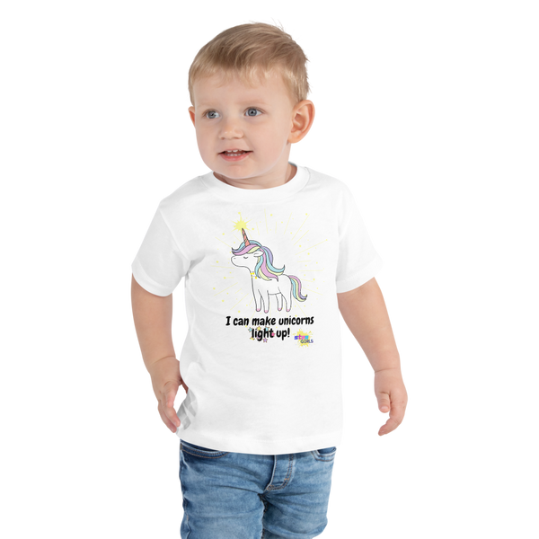 Unicorns a Glow Toddler Short Sleeve Tee
