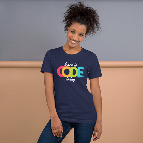 Learn to Code Today | Short-Sleeve Unisex T-Shirt