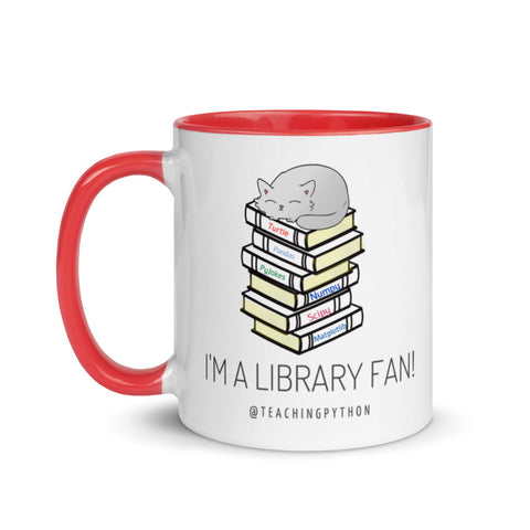 Library Fan: Mug with Color Inside